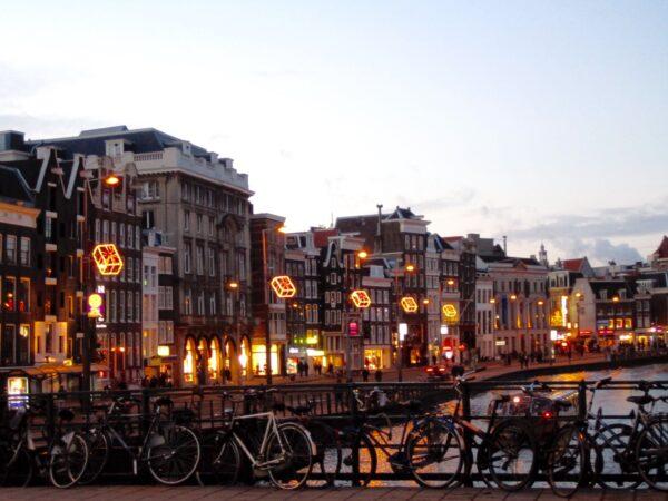 Christmas walk in Amsterdam