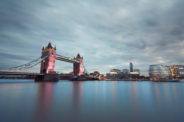 London at the dusk